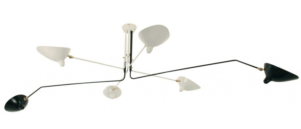 serge mouille ceiling light